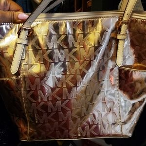 Rose Gold MK Jet Set Tote